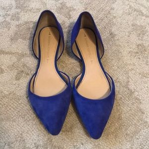 Blue suede shoes from Banana Republic size 6